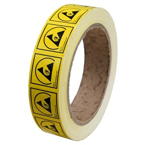 06713-LABEL, ESD PROTECTIVE SYMBOL 1''x1'', PERMANENT, RL/1000