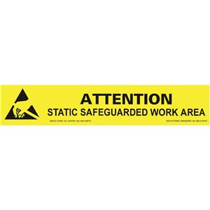 06751-SIGN, BENCH, ESD PROTECTIVE SYMBOL, 25MM x 152MM