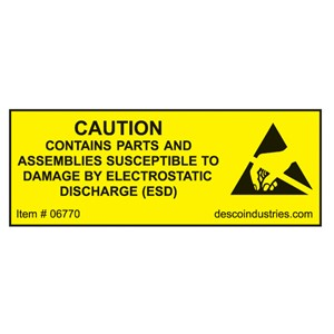 06770-LABEL, EQUIPMENT CONTAINING ESDS  3/4'' x 2'', ROLL OF 500