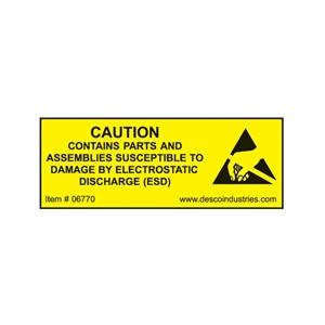 LABEL, EQUIPMENT CONTAINING ESDS  3/4'' x 2'', ROLL OF 500