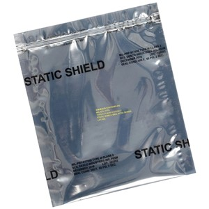 12931-STATIC SHIELD BAG,81705 SERIES METAL-IN, ZIP, 10x14, 100 EA