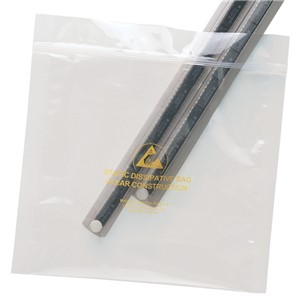 13882-BAG, STATFREE, CLEAR, ZIPPER, 203MM x 254MM, 100 EA/PACK