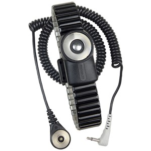 2230-WRIST STRAP, DUAL-WIRE, MAGSNAP 360, METAL,  LARGE BAND, 6' CORD