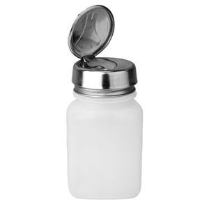 35304-ディスペンサー、ONE-TOUCH、白、角型 高密度ポリエチレン、60cc容器用