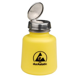 Menda 35360 Dissipative Yellow Round Hdpe Bottle One
