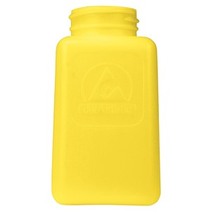 35497-BOTTLE ONLY, DURASTATIC,YELLOW DISSIPATIVE, HDPE, 180 ML
