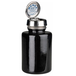 35545-PURE-TOUCH, SS, ROUND 6OZ BLACK GLASS,