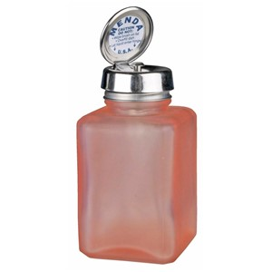 35580-PURE-TOUCH, SS, SQUARE, GLASS FROSTED, PINK, 4 OZ