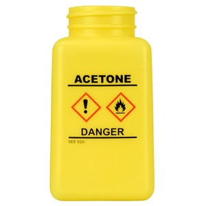 35733-BOTTLE ONLY, YELLOW, GHS LABEL, ACETONE PRINTED, 180 ML