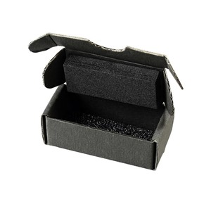 39542-SMALL COMPONENT SHIPPER, BLACK FOAM TOP/BOTTOM, 3-3/4x3-3/4x1