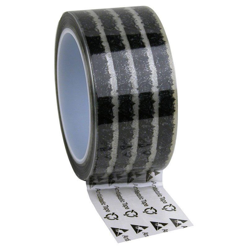 WESCORP ESD TAPE, CLEAR W/ SYMBOLS, 2INx72 YDS, 3 IN CORE