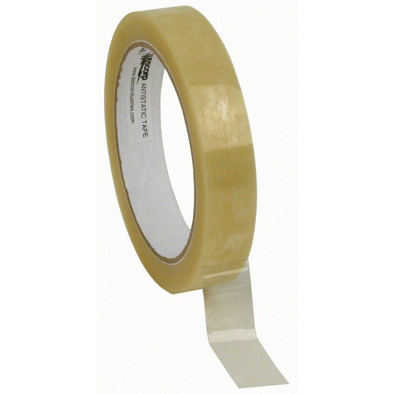 46924-WESCORP ESD TAPE, CLEAR 3/4IN x 72YDS, 3IN PAPER CORE