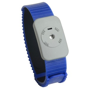4720-WRISTBAND, DUAL CONDUCTOR, THERMOPLASTIC, ADJUSTABLE, BLUE