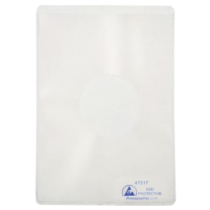DOCUMENT HOLDER, ESD, STATIC DISS, 4-1/2IN x 6-1/2IN, 25 PK