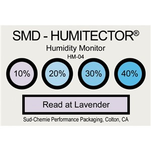 48882-CARD, HUMIDITY INDICATOR, 10% 20% 30% 40% REVERSIBLE HIC