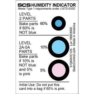 HUMIDITY CARD, 5-10-60% 125/CAN