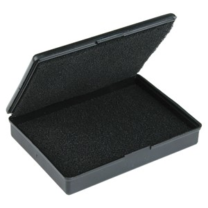 BOX, CONDUCTIVE, WITH FOAM 3.5'' x 2.5'' x 0.63'', MOLDED