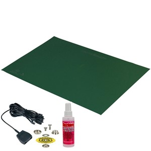 66431-MAT KIT, STATFREE T2 PLUS RUBBER, DISSIPATIVE,  GREEN, 1.5 MM x 600 MM x 1.2 M