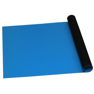 ROLL, STATFREE T2 PLUS RUBBER, DISSIPATIVE,  BLUE,  0.060'' x 36'' x 40'