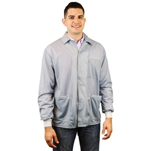 73780-SMOCK, STATSHIELD, JACKET, KNITTED CUFFS, GREY, 2XLARGE