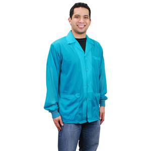 73850-SMOCK, STATSHIELD, JACKET, KNITTED CUFFS, TEAL, XSMALL