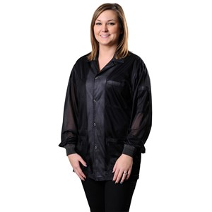 73860-SMOCK, STATSHIELD, JACKET, KNITTED CUFFS, BLACK, XSMALL