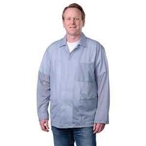 73890-スモック ジャケットタイプ グレー スナップ袖口付き XSサイズ