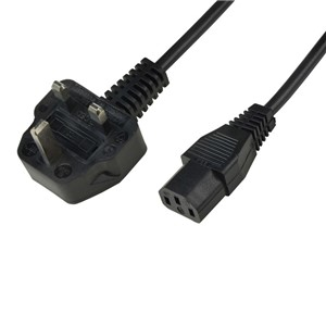 POWER CORD, IEC C-13, UK PLUG