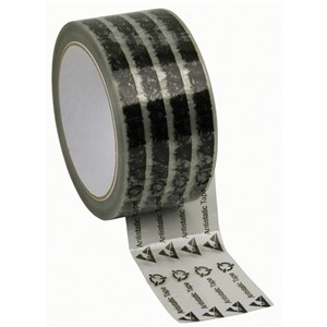 81230-WESCORP CLEAR TAPE, W/SYMBOLS, 2''x72YDS, 3'' PAPER CORE