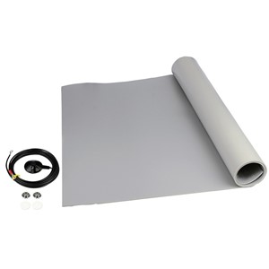 "MAT ROLL, 3-LAYER VINYL, 8200 SERIES, GRAY, 0.140""x24""x24'"