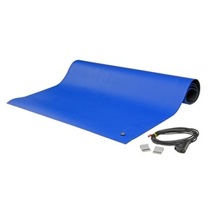 "8881-FLOOR RUNNER, 2-LAYER RUBBER, BLUE, 0.065""x48""x24'"