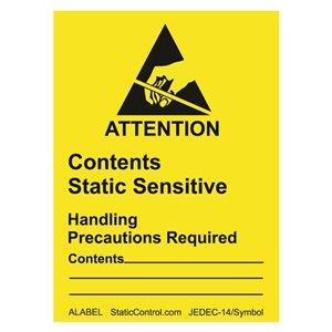 ALABEL-LABEL, ATTENTION, RS-471, 1-7/8IN x 2-1/2IN, 500/ROLL