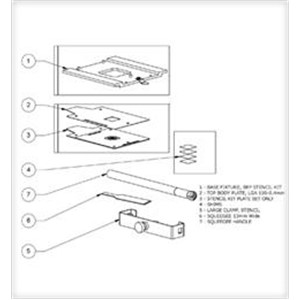 BRP-KIT-LGA100-04-STENCIL KIT, COMPLETE W/BASE, LGA 100-0.4MM(DEMO)