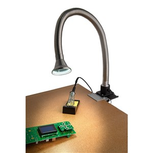 100295L-FLEXIBLE ARM KIT, STAINLESS, 38MM ID, WITH FIXED CONICAL COWL & LIGHT