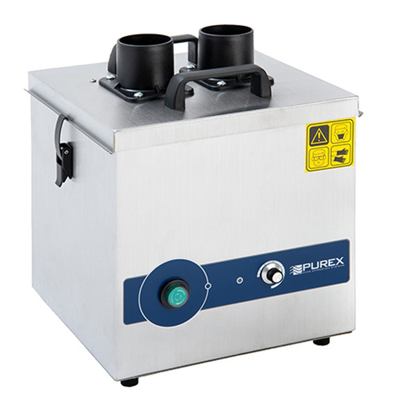 072160-230-2EB-PUREX FUMECUBE ANALOG MACHINE, DUAL PORT, WITH ARMS & VACUUM CONTROL, 230VAC