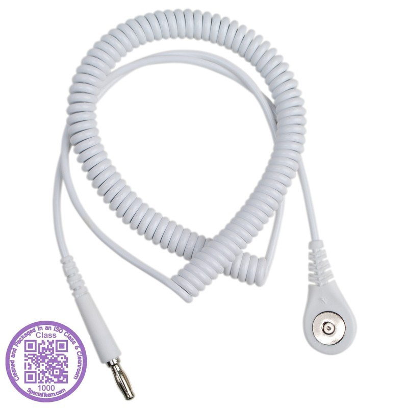 09208-CORD, COIL, JEWEL, MAGSNAP,  WHITE, 6', CLEAN PACK