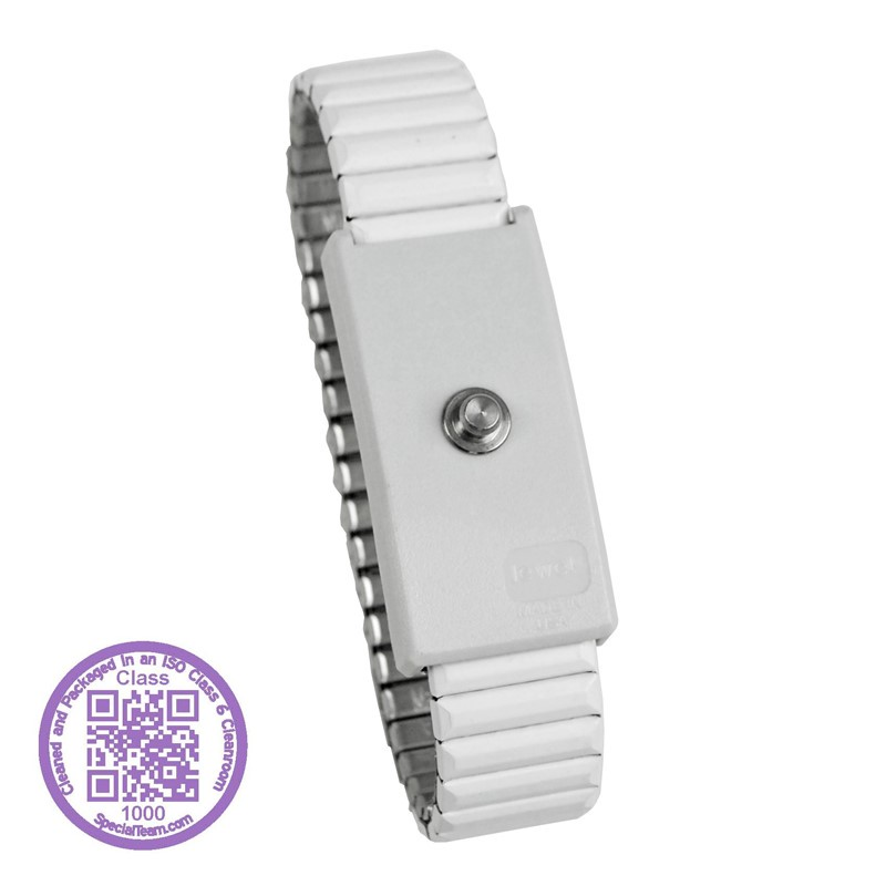 09230-WRISTBAND, JEWEL, ADJ METAL, WHITE, 4 MM, CLEAN PACK