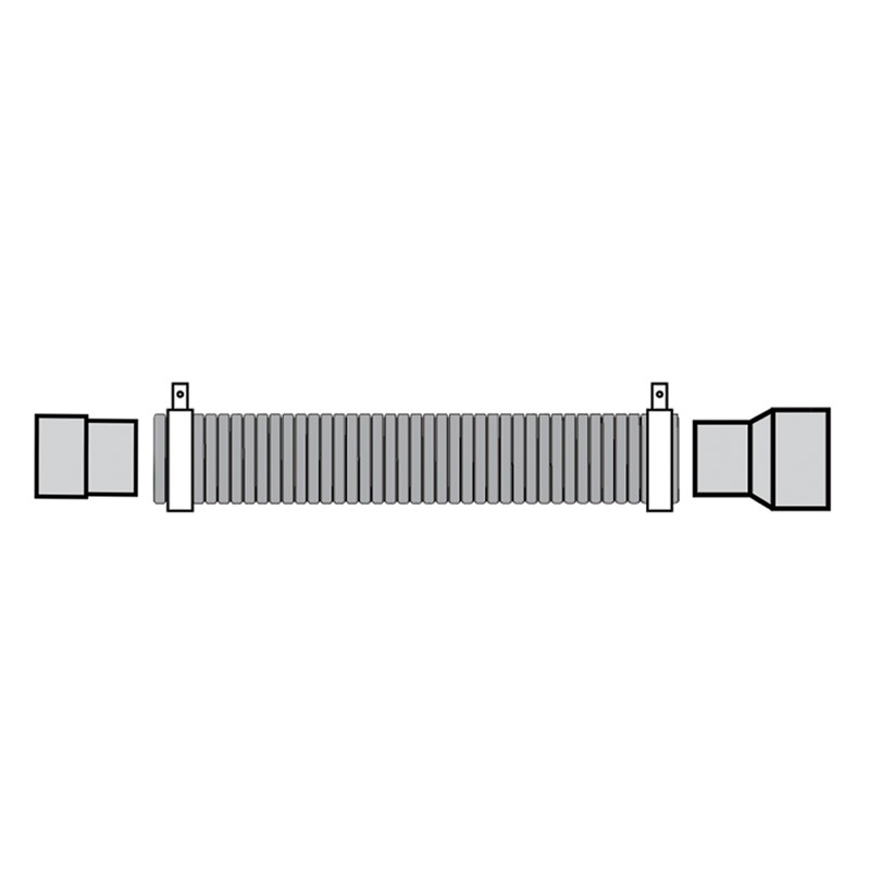 100170EB-CONNECTION KIT, 80MM INLET, 32MM EXHAUST,  1.5M LENGTH, 41MM DIA HOSE