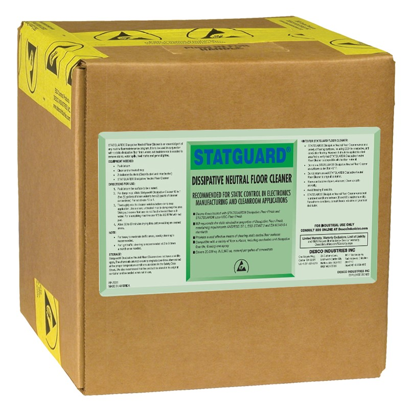 10561-CLEANER, FLOOR, NEUTRAL, STATGUARD, 10L BOX