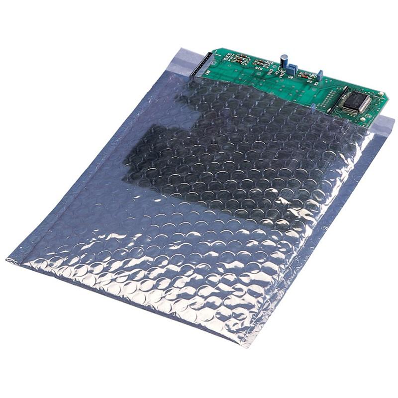 12800-STATIC SHIELDING BUBBLE BAG, 102MM x 127MM, 10 PACK