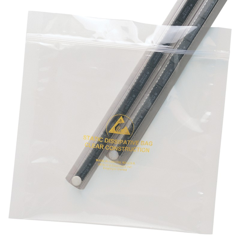 13881-BAG, STATFREE, CLEAR, ZIP, 5IN x 8IN, 100 EA/PACK