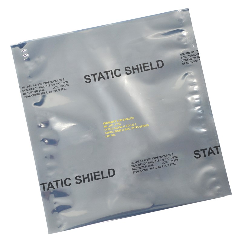 12912-STATIC SHIELD BAG,81705 SERIES METAL-IN, 5x8, 100EA