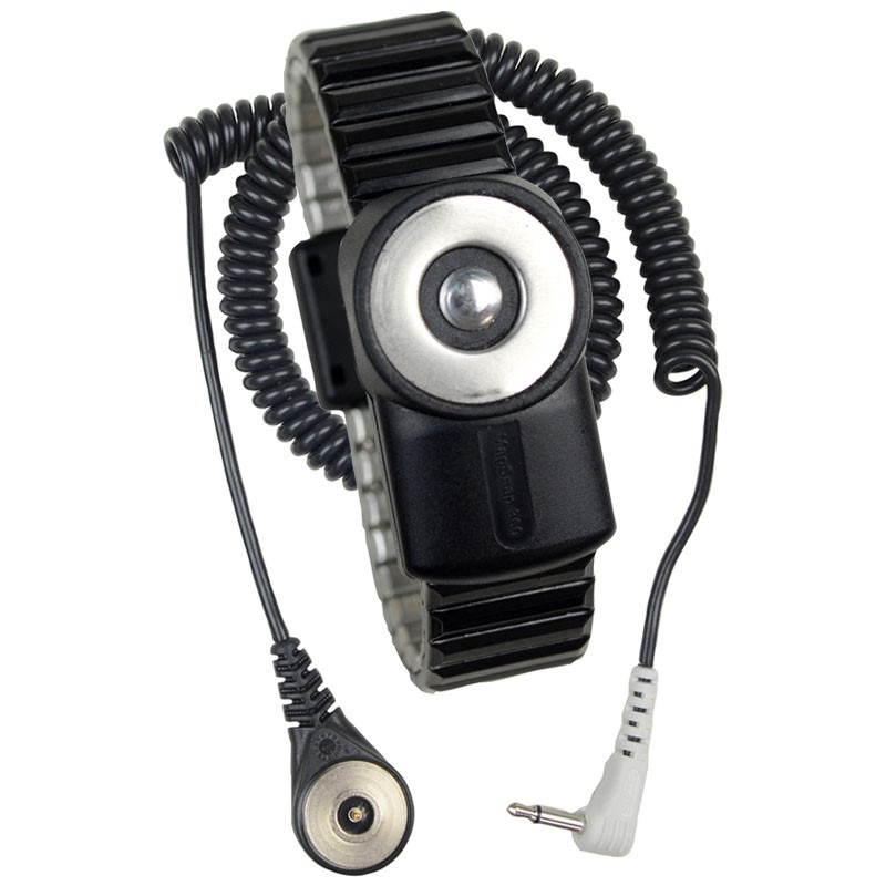 2228-WRIST STRAP, DUAL-WIRE, MAGSNAP 360, METAL,  SMALL BAND, 6' CORD