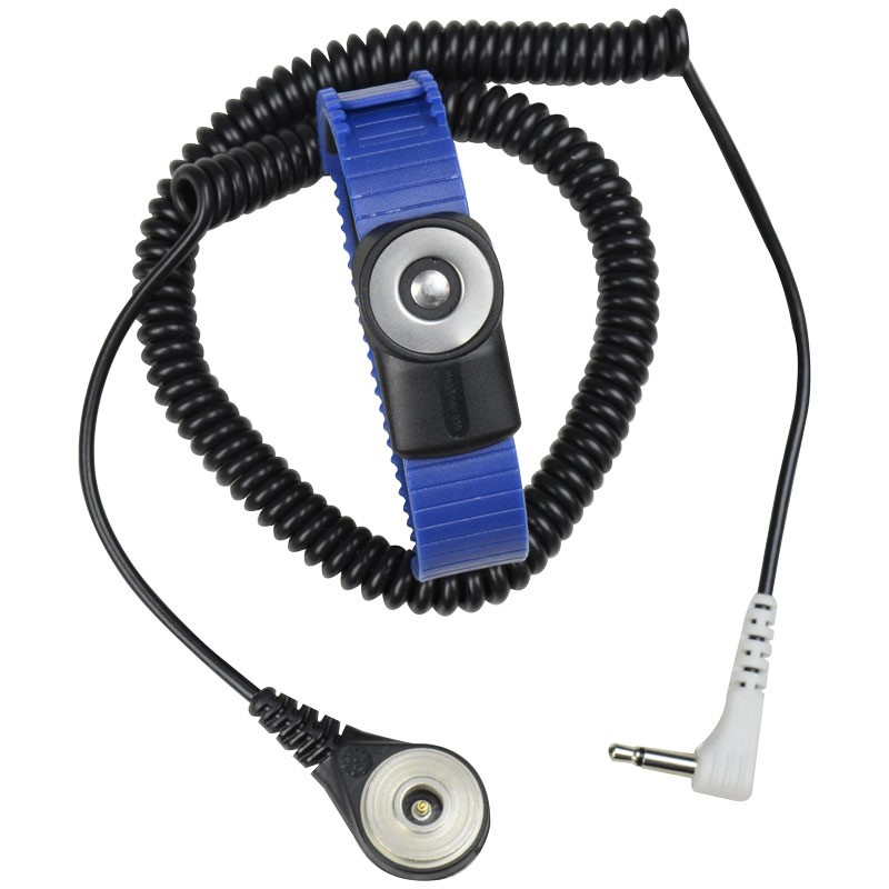 2241-WRIST STRAP, DUAL-WIRE, MAGSNAP 360, THERMOPLASTIC, ADJUSTABLE,  6' CORD