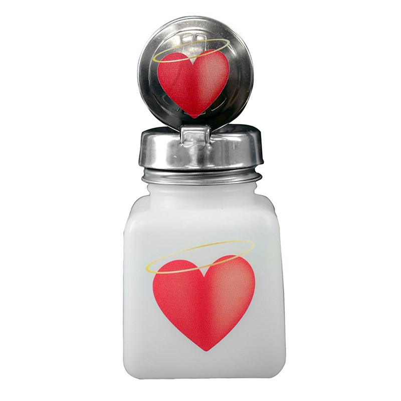 34416-ONE-TOUCH, 4 OZ, NATURAL, W/HALO HEART DESIGN