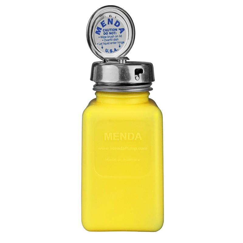 35268-静電気拡散性ボトル、黄色、ピュアテイク、HDPE、180cc