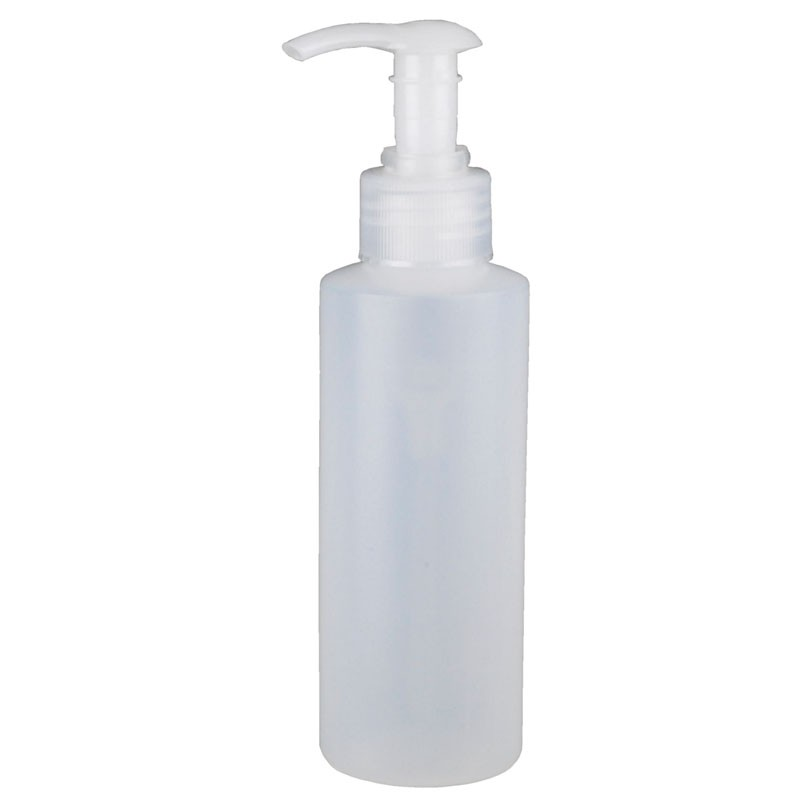 35428-PUMP LOTION, NATURAL ROUND HDPE, 4 OZ