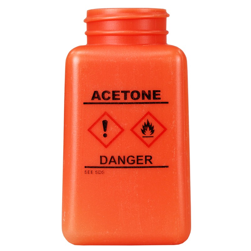 35734-BOTTLE ONLY, ORANGE, GHS LABEL, ACETONE PRINTED, 180 ML