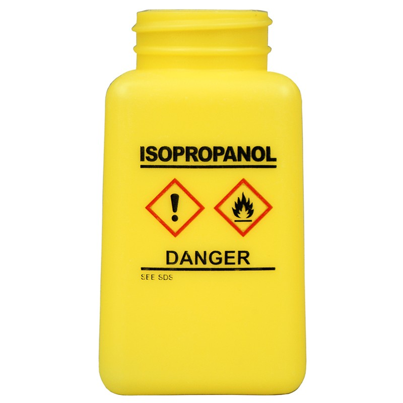 35738-BOTTLE ONLY, YELLOW, GHS LABEL,ISOPROPANOL PRINTED180ML