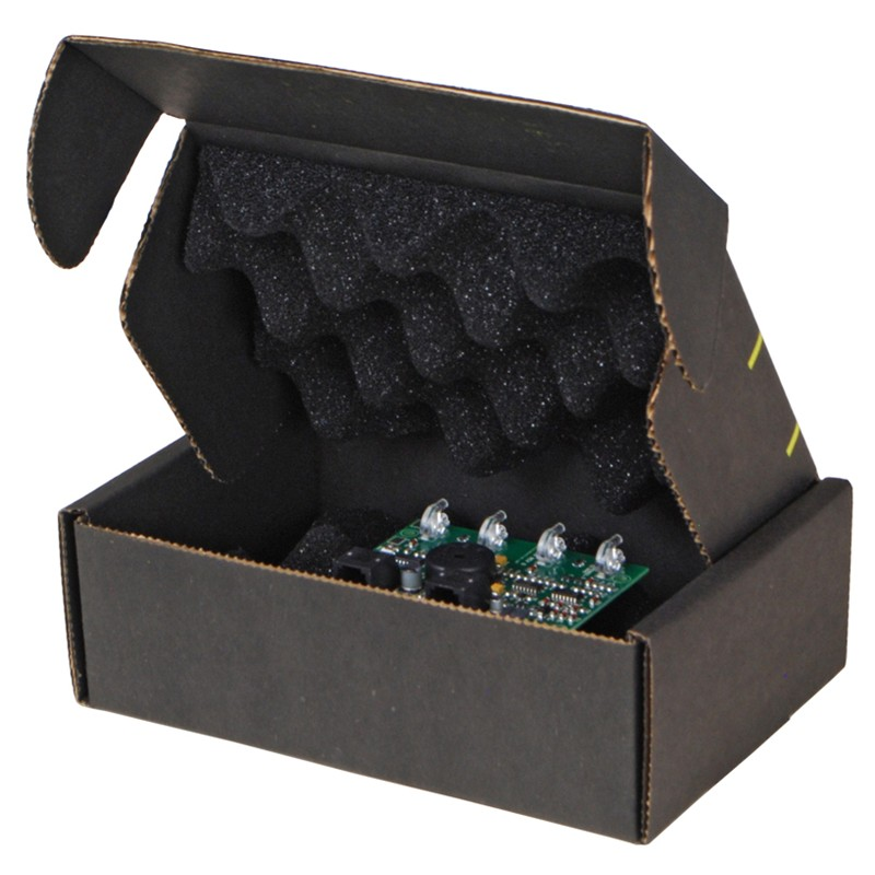 37034-CIRCUIT BOARD SHIPPER W/BLACK FOAM, 7 X 5 X 2-1/2